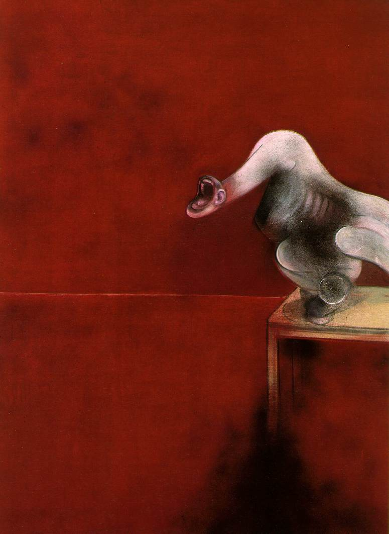 Francis Bacon, 'Three Studies for Figures at the Base of a Crucifixion (second version, c. 1944)'